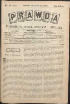 Prawda : tygodnik polityczny, społeczny i literacki, 1903, R. 23, nr 22