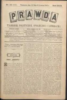 Prawda : tygodnik polityczny, społeczny i literacki, 1903, R. 23, nr 23