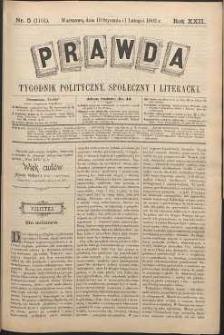 Prawda : tygodnik polityczny, społeczny i literacki, 1902, R. 22, nr 5
