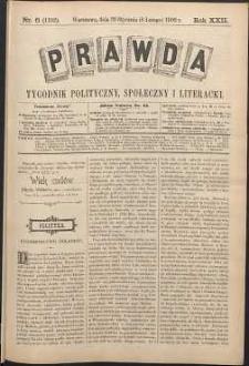Prawda : tygodnik polityczny, społeczny i literacki, 1902, R. 22, nr 6