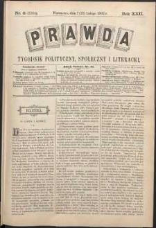 Prawda : tygodnik polityczny, społeczny i literacki, 1902, R. 22, nr 8