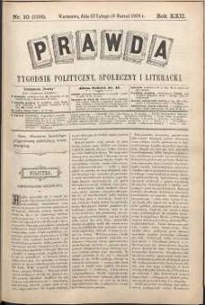 Prawda : tygodnik polityczny, społeczny i literacki, 1902, R. 22, nr 10