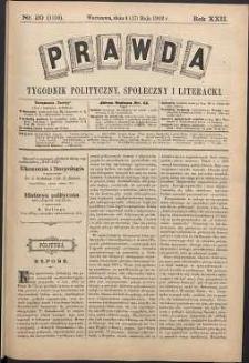 Prawda : tygodnik polityczny, społeczny i literacki, 1902, R. 22, nr 20