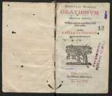 Orationum . Editio nova