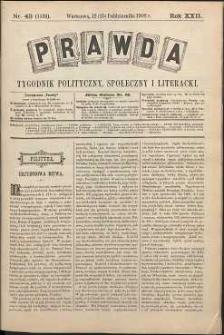 Prawda : tygodnik polityczny, społeczny i literacki, 1902, R. 22, nr 43