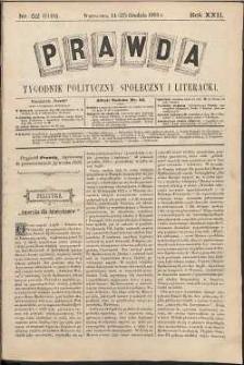 Prawda : tygodnik polityczny, społeczny i literacki, 1902, R. 22, nr 52
