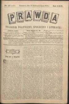 Prawda : tygodnik polityczny, społeczny i literacki, 1903, R. 23, nr 27