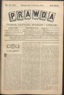 Prawda : tygodnik polityczny, społeczny i literacki, 1903, R. 23, nr 30