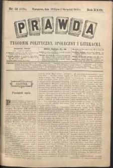 Prawda : tygodnik polityczny, społeczny i literacki, 1903, R. 23, nr 31