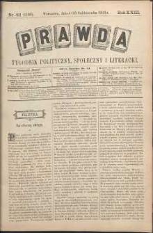 Prawda : tygodnik polityczny, społeczny i literacki, 1903, R. 23, nr 42