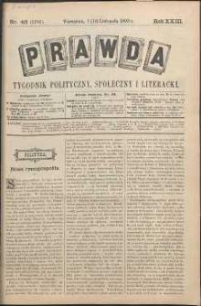 Prawda : tygodnik polityczny, społeczny i literacki, 1903, R. 23, nr 46