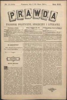 Prawda : tygodnik polityczny, społeczny i literacki, 1901, R. 21, nr 11