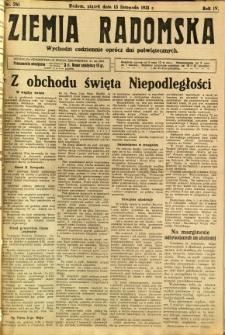 Ziemia Radomska, 1931, R. 4, nr 261
