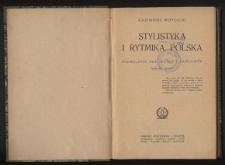Stylistyka i rytmika polska : podręcznik dla szkoły i samouków