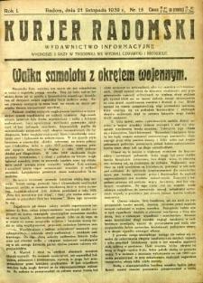 Kurier Radomski, 1939, R. 1, nr 15