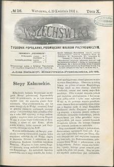 Wszechświat : Tygodnik popularny, poświęcony naukom przyrodniczym, 1891, T. 10, nr 16