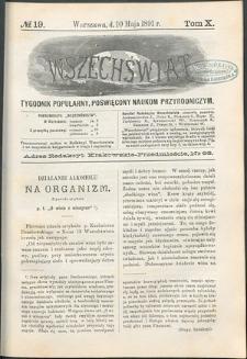 Wszechświat : Tygodnik popularny, poświęcony naukom przyrodniczym, 1891, T. 10, nr 19