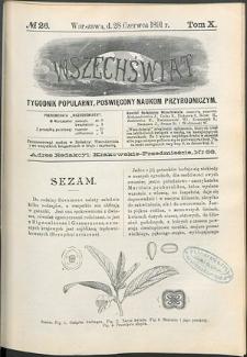 Wszechświat : Tygodnik popularny, poświęcony naukom przyrodniczym, 1891, T. 10, nr 26