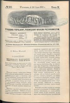 Wszechświat : Tygodnik popularny, poświęcony naukom przyrodniczym, 1891, T. 10, nr 30