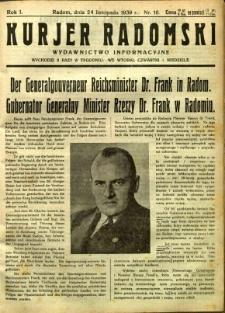 Kurier Radomski, 1939, R. 1, nr 16