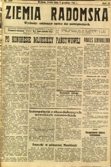 Ziemia Radomska, 1931, R. 4, nr 277