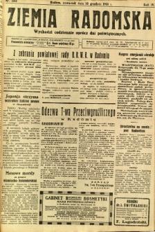 Ziemia Radomska, 1931, R. 4, nr 283