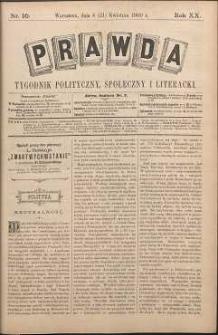 Prawda : tygodnik polityczny, społeczny i literacki, 1900, R. 20, nr 16