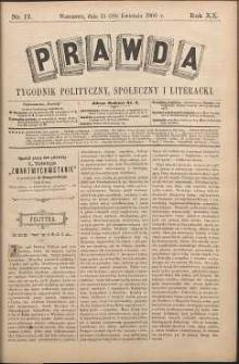 Prawda : tygodnik polityczny, społeczny i literacki, 1900, R. 20, nr 17