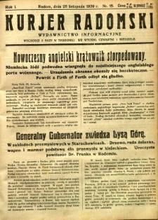 Kurier Radomski, 1939, R. 1, nr 18