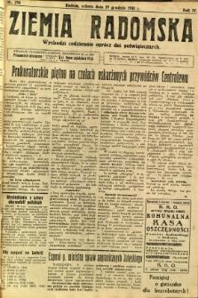 Ziemia Radomska, 1931, R. 4, nr 291
