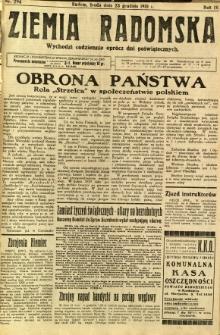 Ziemia Radomska, 1931, R. 4, nr 294