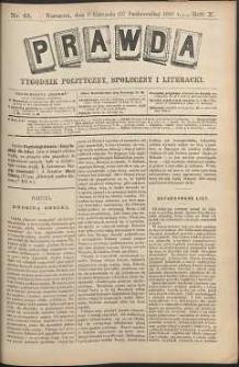 Prawda : tygodnik polityczny, społeczny i literacki, 1890, R. 10, nr 45