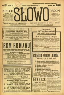 Słowo, 1923, R. 2, nr 101