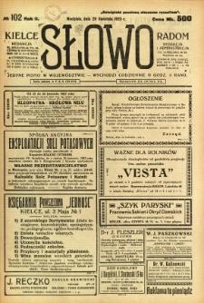 Słowo, 1923, R. 2, nr 102
