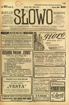 Słowo, 1923, R. 2, nr 103