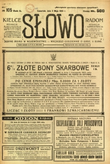 Słowo, 1923, R. 2, nr 105