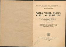 Wykształcenie według Planu Daltońskiego
