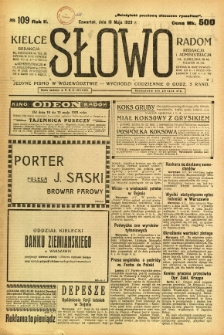 Słowo, 1923, R. 2, nr 109