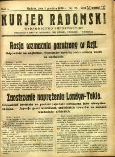 Kurier Radomski, 1939, R. 1, nr 21