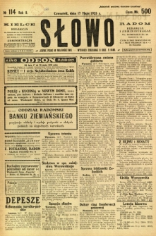 Słowo, 1923, R. 2, nr 114