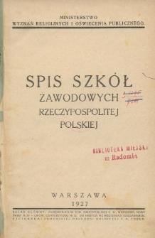 Spis szkół zawodowych Rzeczypospolitej Polskiej