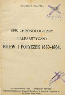 Spis chronologiczny i alfabetyczny bitew i potyczek 1863-1864