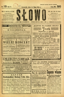 Słowo, 1923, R. 2, nr 119