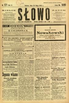 Słowo, 1923, R. 2, nr 121