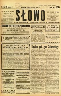 Słowo, 1923, R. 2, nr 122
