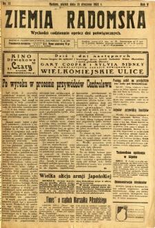 Ziemia Radomska, 1932, R. 5, nr 11
