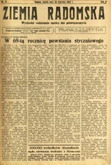 Ziemia Radomska, 1932, R. 5, nr 17
