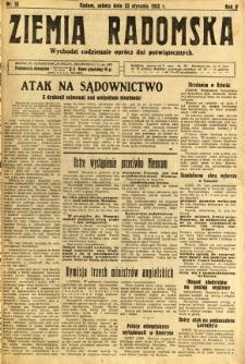 Ziemia Radomska, 1932, R. 5, nr 18