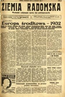 Ziemia Radomska, 1932, R. 5, nr 25