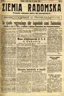 Ziemia Radomska, 1932, R. 5, nr 32